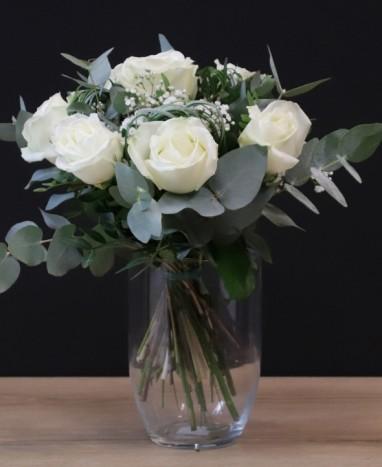Bouquet de Roses Blanches - Max le Fleuriste
