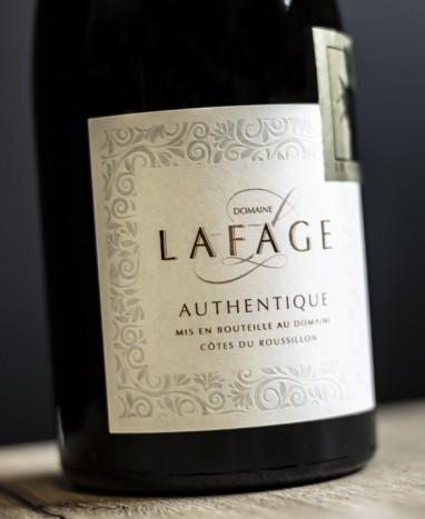 Bouteille de vin rouge Lafage Authentique - Max le Fleuriste - Livraison de fleurs à domicile - Max le Fleuriste