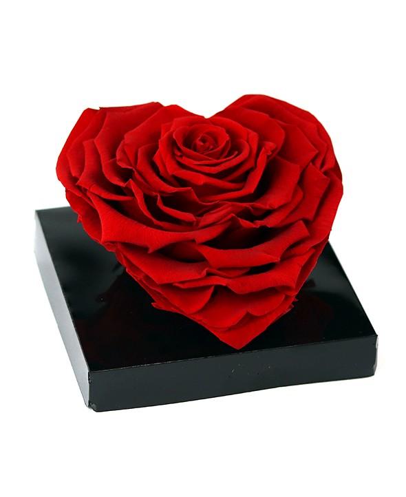 Rose rouge Éternelle Cœur XL - Max le Fleuriste
