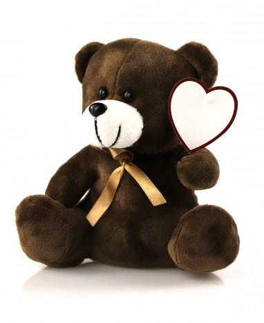 Idée cadeau - Ourson message d'amour personnalisé - Max le Fleuriste - Max le Fleuriste