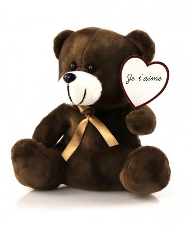 Idée cadeau - Ourson message d'amour personnalisé - Max le Fleuriste - Livraison de fleurs à domicile - Max le Fleuriste