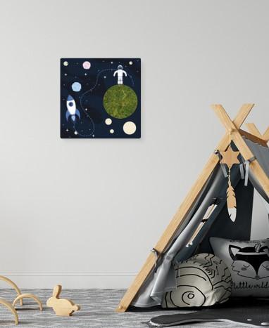 Cadre végétalisé Astronaute • Max le Fleuriste - Livraison de fleurs à domicile - Max le Fleuriste