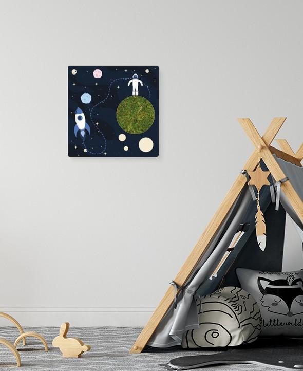 Cadre végétalisé Astronaute • Max le Fleuriste