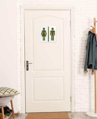Cadre végétalisé Toilettes • Max le Fleuriste  - Max le Fleuriste