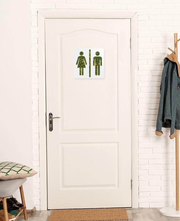 Cadre végétalisé Toilettes • Max le Fleuriste