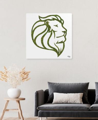 Cadre végétalisé Lion • Mousse Végétalisée • Max le Fleuriste  - Max le Fleuriste
