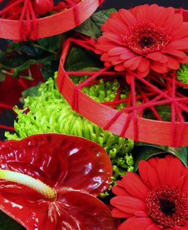 Bouquet de fleurs rouges Venise - Max le Fleuriste - Livraison de fleurs à domicile - Livraison de fleurs à domicile - Max le Fleuriste