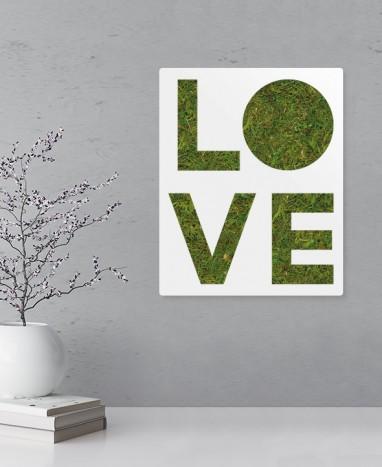 Cadre végétalisé Love • Max le Fleuriste  - Max le Fleuriste