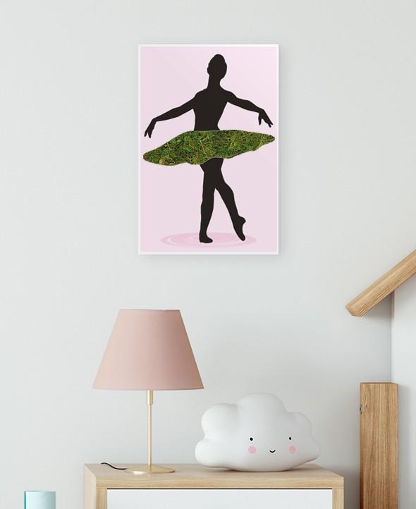 Cadre végétalisé danseuse ballerine • Max le Fleuriste