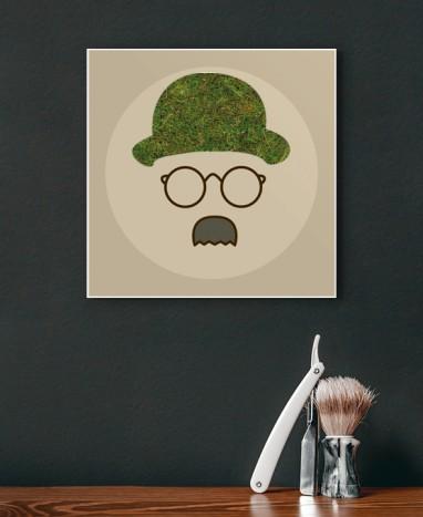 Cadre végétalisé Chaplin • Max le Fleuriste - Max le Fleuriste