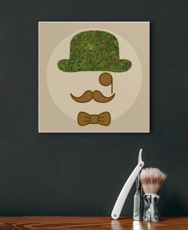 Cadre végétalisé Moustache • Max le Fleuriste - Max le Fleuriste