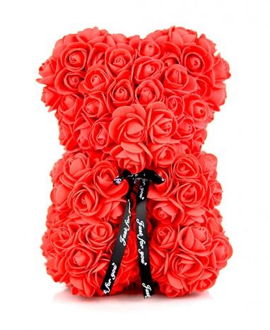 Ours Roses Artificielles...  - Max le Fleuriste