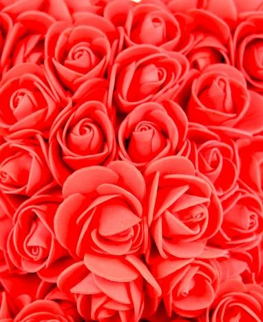 Ours Roses Artificielles Rouges - Livraison de fleurs à domicile - Max le Fleuriste
