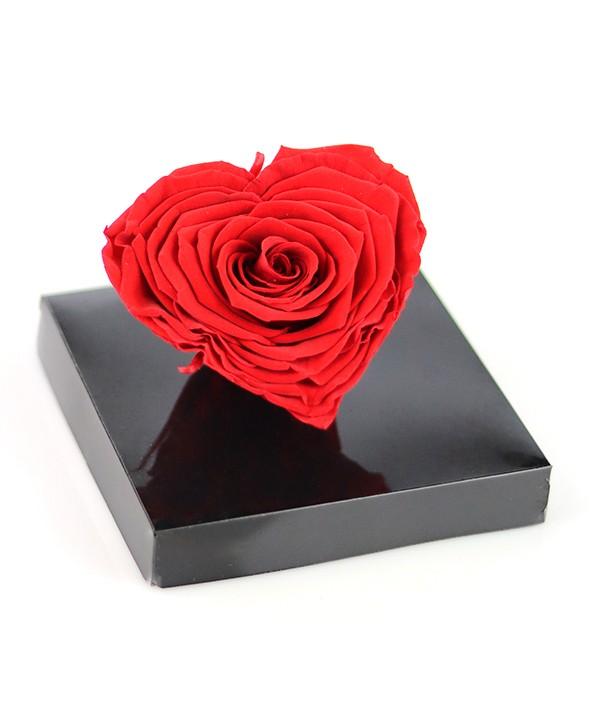 Rose rouge Éternelle Cœur - Max le Fleuriste