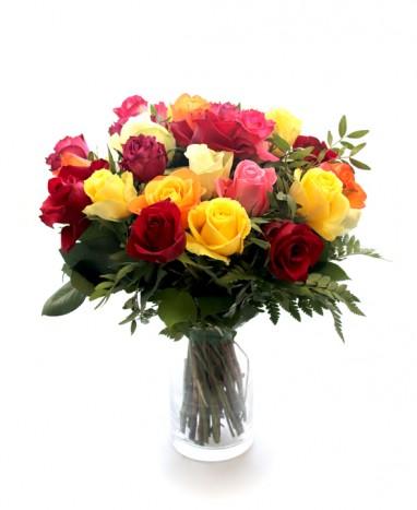 Bouquet de roses Multicolores • Max le Fleuriste - Max le Fleuriste