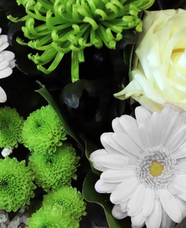 Coup de foudre - Bouquet de fleurs ronds - Livraison de fleurs à domicile - Max le Fleuriste