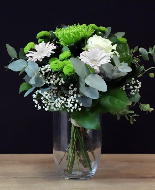 Coup de foudre - Bouquet de fleurs ronds