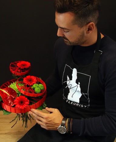 Bouquet de fleurs rouges Venise - Livraison de fleurs à domicile - Max le Fleuriste