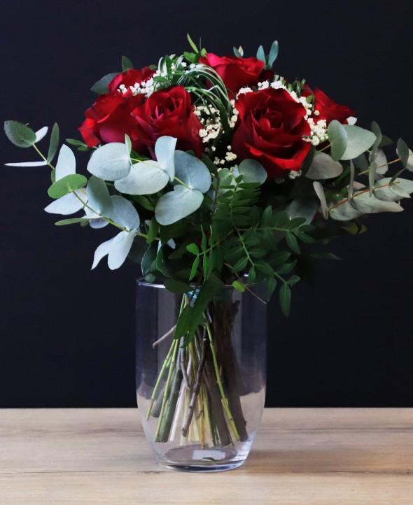 Bouquet de Roses Rouges - Max le Fleuriste - Livraison de fleurs à domicile