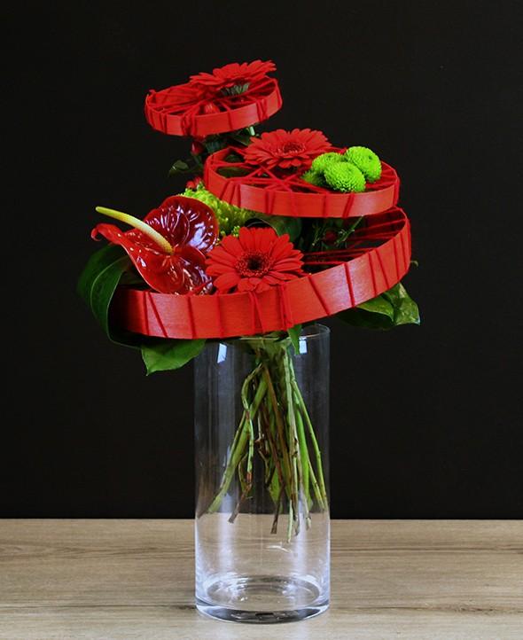 Bouquet de fleurs rouges Venise - Max le Fleuriste - Livraison de fleurs à domicile