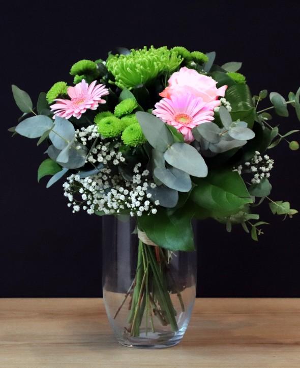 Parce que c'est toi - Bouquet de fleurs roses